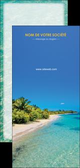 creer modele en ligne flyers sejours plage sable mer MLGI37055