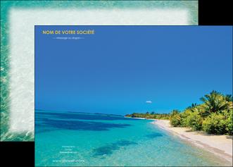 personnaliser modele de affiche sejours plage sable mer MLIP37057