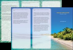 realiser depliant 3 volets  6 pages  sejours plage sable mer MLIP37059