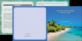 exemple depliant 2 volets  4 pages  sejours plage sable mer MLGI37063