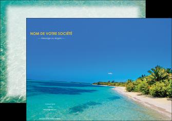 exemple affiche sejours plage sable mer MLIP37065