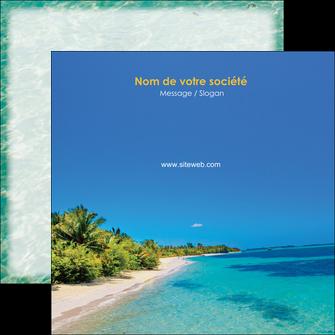 imprimer flyers sejours plage sable mer MLIP37067