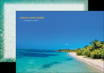 impression flyers sejours plage sable mer MLIP37069