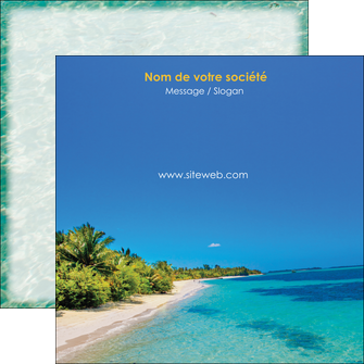 imprimer flyers sejours plage sable mer MLIP37071