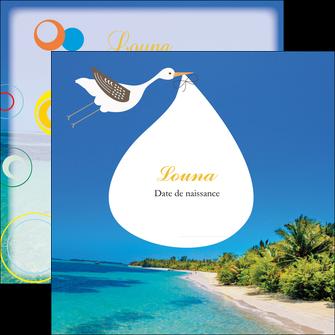 faire flyers plage mer palmier MIF37091