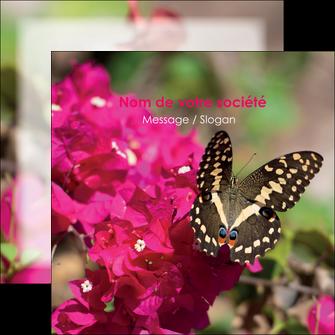 faire flyers agriculture papillons fleurs nature MLGI37107