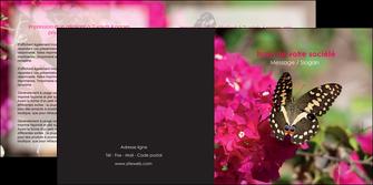 creer modele en ligne depliant 2 volets  4 pages  agriculture papillons fleurs nature MLGI37109