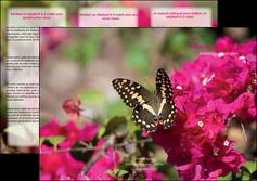 faire modele a imprimer depliant 3 volets  6 pages  agriculture papillons fleurs nature MLGI37113