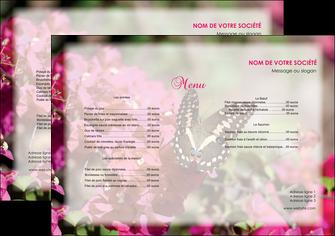 modele set de table agriculture papillons fleurs nature MLGI37117