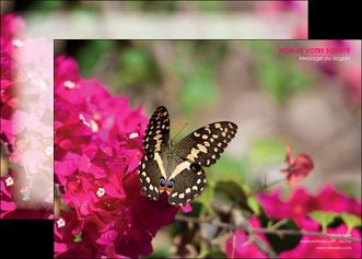 creer modele en ligne affiche agriculture papillons fleurs nature MLGI37121