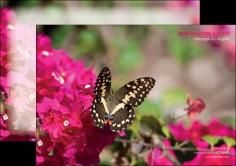 personnaliser maquette flyers agriculture papillons fleurs nature MLGI37125