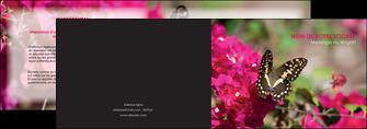 modele en ligne depliant 2 volets  4 pages  agriculture papillons fleurs nature MLGI37127