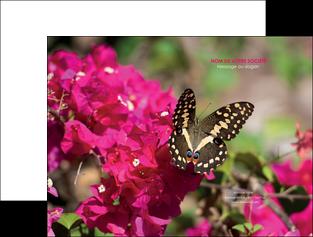 modele pochette a rabat agriculture papillons fleurs nature MLGI37131