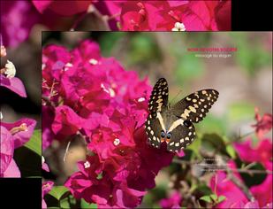 impression pochette a rabat agriculture papillons fleurs nature MLGI37133