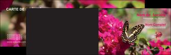 faire carte de visite agriculture papillons fleurs nature MLGI37137