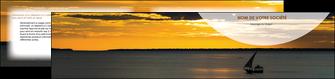 faire modele a imprimer depliant 2 volets  4 pages  sejours paysage mer pirogue MLGI37143
