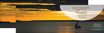 maquette en ligne a personnaliser carte de visite sejours paysage mer pirogue MLGI37149