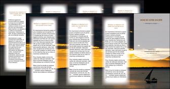 personnaliser modele de depliant 4 volets  8 pages  sejours paysage mer pirogue MLGI37153