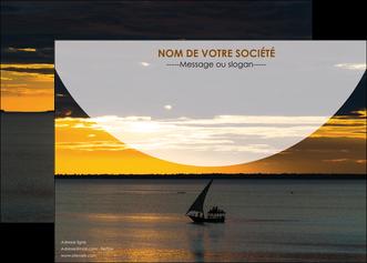 creation graphique en ligne affiche sejours paysage mer pirogue MLGI37163