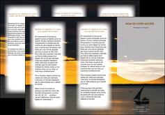 imprimer depliant 3 volets  6 pages  sejours paysage mer pirogue MLGI37165