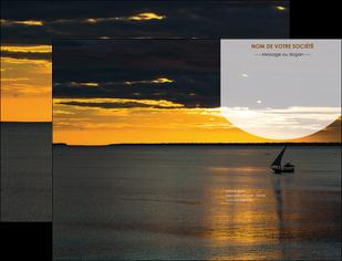 faire pochette a rabat sejours paysage mer pirogue MLGI37173