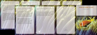 maquette en ligne a personnaliser depliant 4 volets  8 pages  animal originale belle photo idee MLGI37459