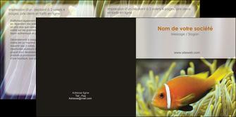realiser depliant 2 volets  4 pages  animal originale belle photo idee MLGI37479