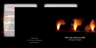 personnaliser maquette depliant 2 volets  4 pages  evenement evenementiel lumiere MID37507