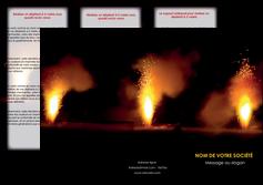 modele en ligne depliant 3 volets  6 pages  evenement evenementiel lumiere MID37511