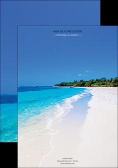 realiser affiche sejours plage mer sable blanc MLGI37567