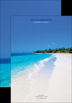 modele en ligne affiche sejours plage mer sable blanc MLGI37569