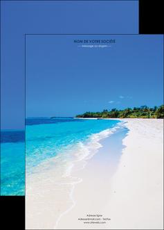 personnaliser maquette affiche sejours plage mer sable blanc MLGI37571