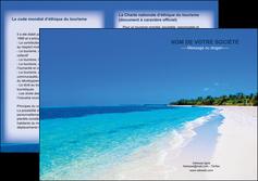 imprimerie depliant 2 volets  4 pages  sejours plage mer sable blanc MLGI37581