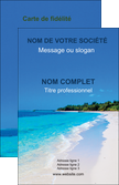 creer modele en ligne carte de visite sejours plage mer sable blanc MLGI37585