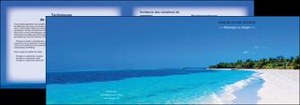personnaliser maquette depliant 2 volets  4 pages  sejours plage mer sable blanc MLGI37591