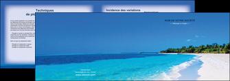faire depliant 2 volets  4 pages  sejours plage mer sable blanc MLGI37593