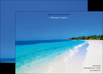 imprimerie affiche sejours plage mer sable blanc MLGI37597