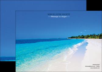 creation graphique en ligne affiche sejours plage mer sable blanc MLGI37599