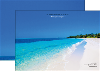 exemple affiche sejours plage mer sable blanc MLGI37601