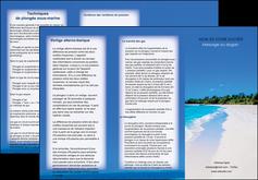 realiser depliant 3 volets  6 pages  sejours plage mer sable blanc MLGI37603