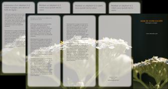 imprimerie depliant 4 volets  8 pages  fleuriste et jardinage plantes cactus fleurs MLGI37659