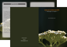 maquette en ligne a personnaliser depliant 2 volets  4 pages  fleuriste et jardinage plantes cactus fleurs MLGI37673
