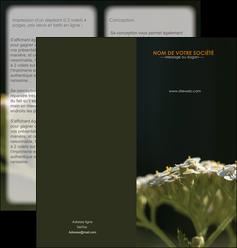 personnaliser modele de depliant 2 volets  4 pages  fleuriste et jardinage plantes cactus fleurs MLGI37675