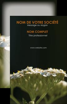 exemple carte de visite fleuriste et jardinage plantes cactus fleurs MLGI37689