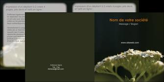 creation graphique en ligne depliant 2 volets  4 pages  fleuriste et jardinage plantes cactus fleurs MLGI37691