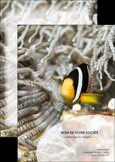 maquette en ligne a personnaliser flyers animal poisson plongee nature MLGI37897
