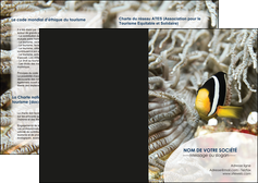 faire depliant 2 volets  4 pages  animal poisson plongee nature MLGI37903