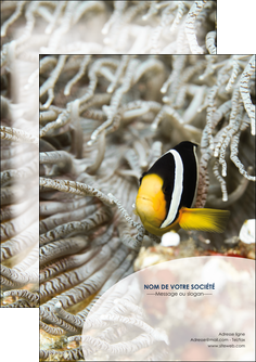 creation graphique en ligne flyers animal poisson plongee nature MLGI37905