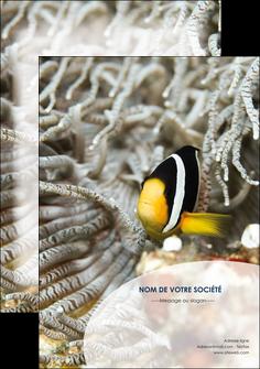 maquette en ligne a personnaliser affiche animal poisson plongee nature MLGI37907