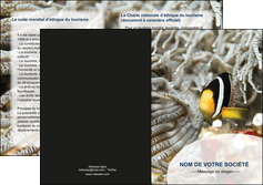 impression depliant 2 volets  4 pages  animal poisson plongee nature MLGI37909